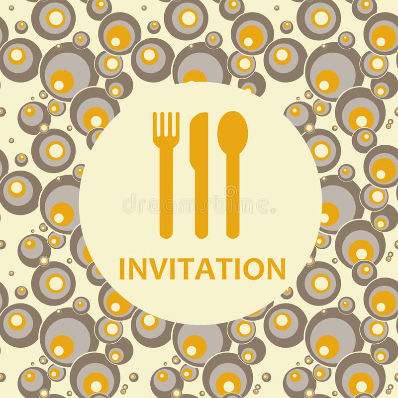 Convite ilustração royalty free