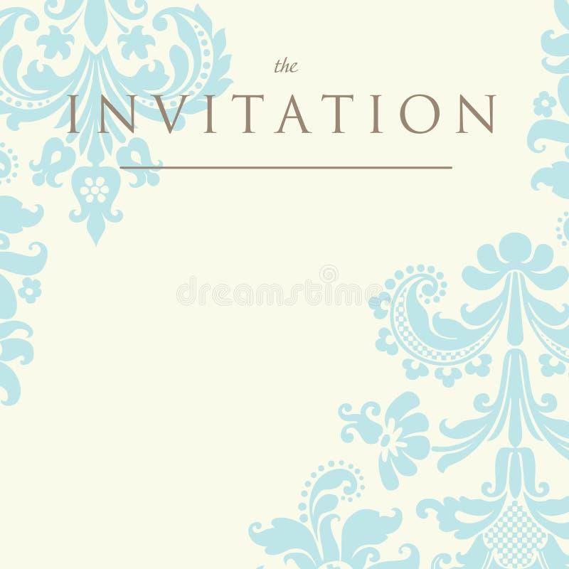 Convite ao casamento ilustração do vetor