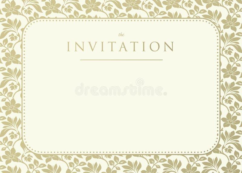 Convite ao casamento ilustração stock
