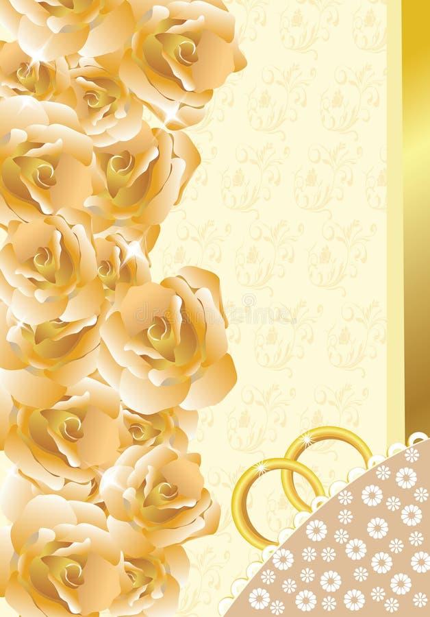 Convite/cartão do casamento ilustração royalty free