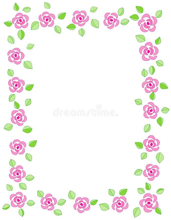 Convite da beira/casamento de Rosa ilustração stock