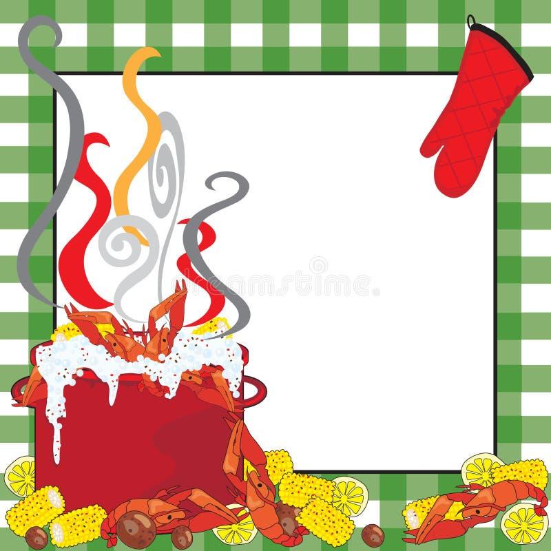 Convite da fervura dos lagostins ilustração stock