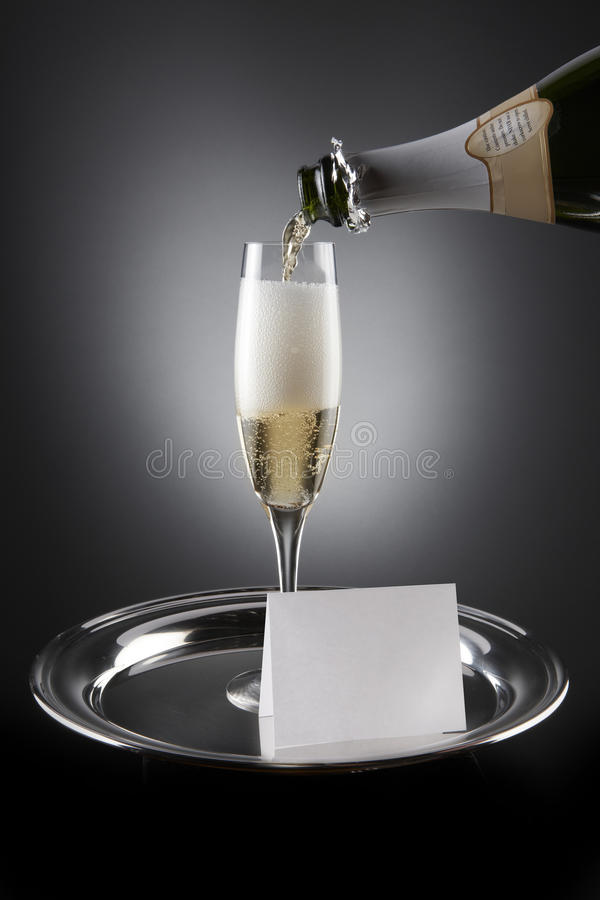 Convite de Champagne foto de stock royalty free