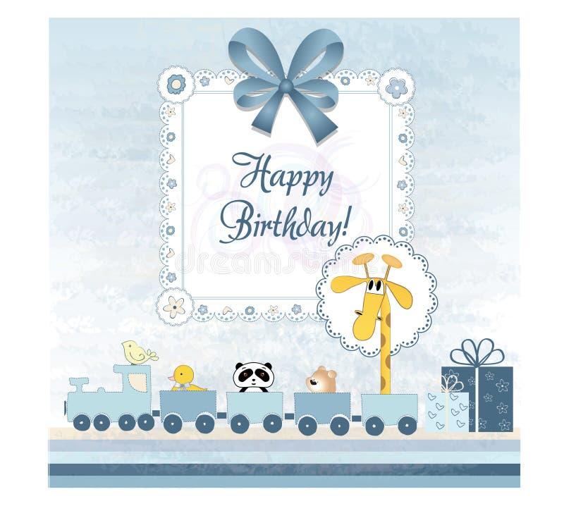Convite do aniversário ilustração stock