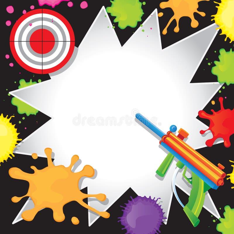 Convite do aniversário do Paintball ilustração royalty free