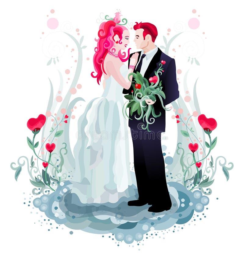 Convite do casamento imagem de stock