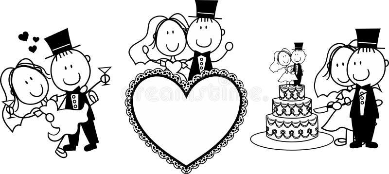 Convite do casamento ilustração do vetor