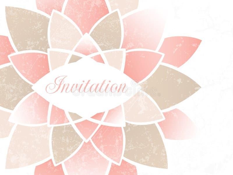 Convite do casamento. ilustração royalty free