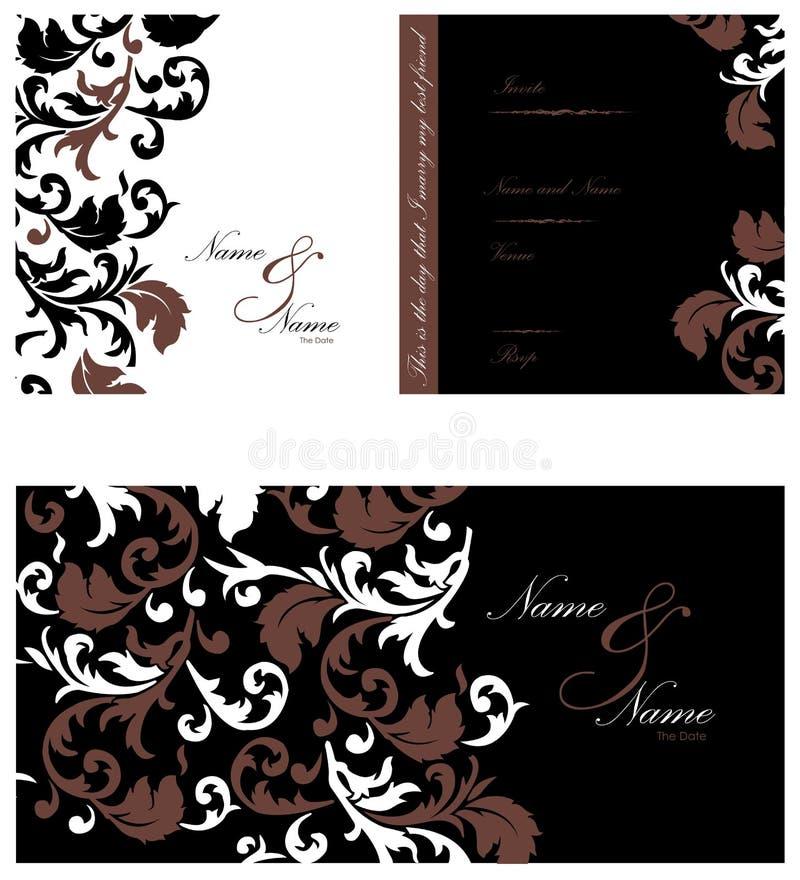 Convite do casamento ilustração royalty free