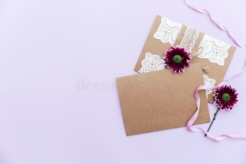 Convite do casamento Cartão de cumprimentos imagem de stock royalty free