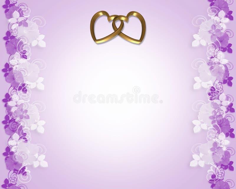 Convite do casamento da alfazema ilustração do vetor