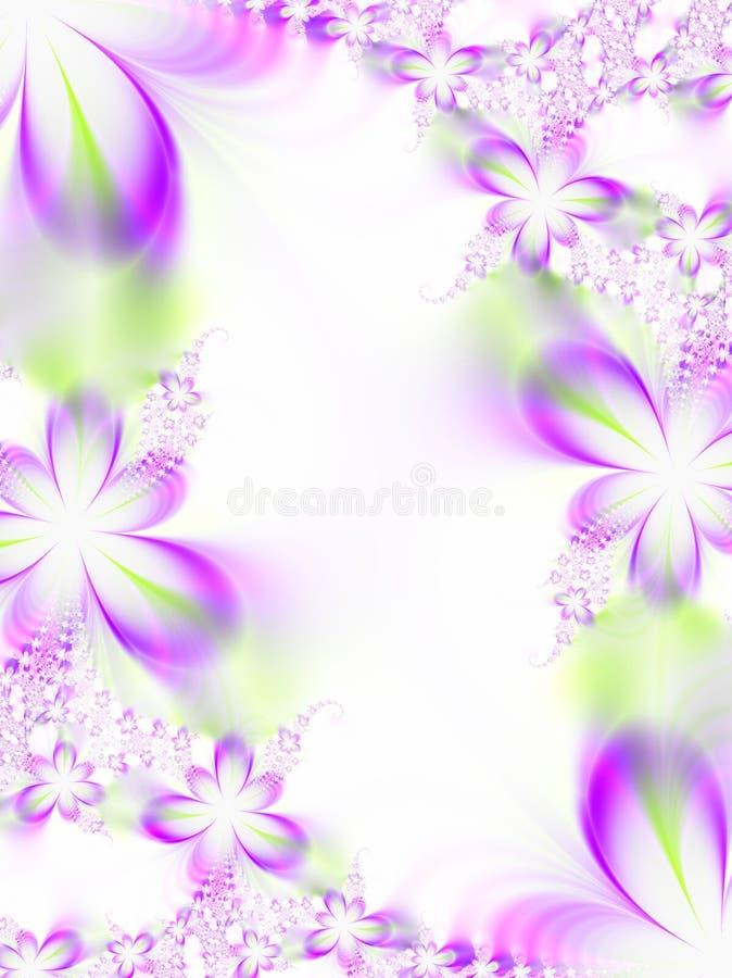 Convite do casamento da flor ilustração royalty free