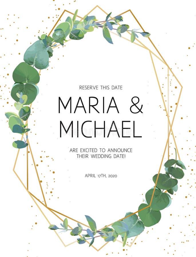 Convite do casamento das hortaliças ilustração stock