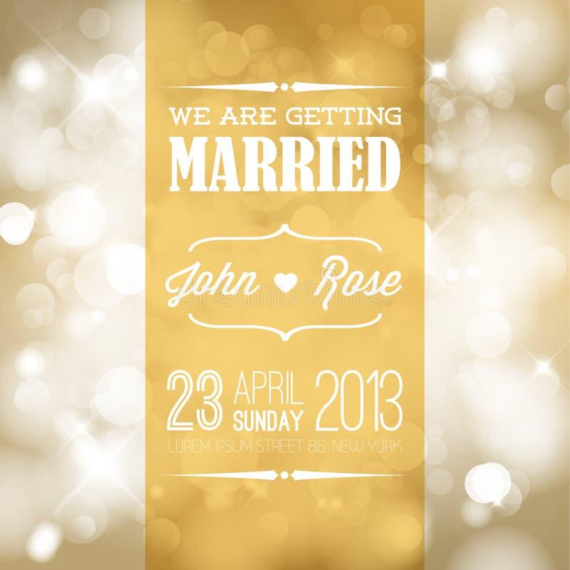 Convite do casamento do vetor ilustração stock