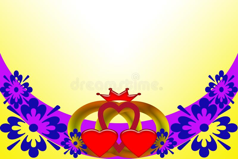 Convite do casamento Imagem abstrata com elementos coloridos ilustração do vetor