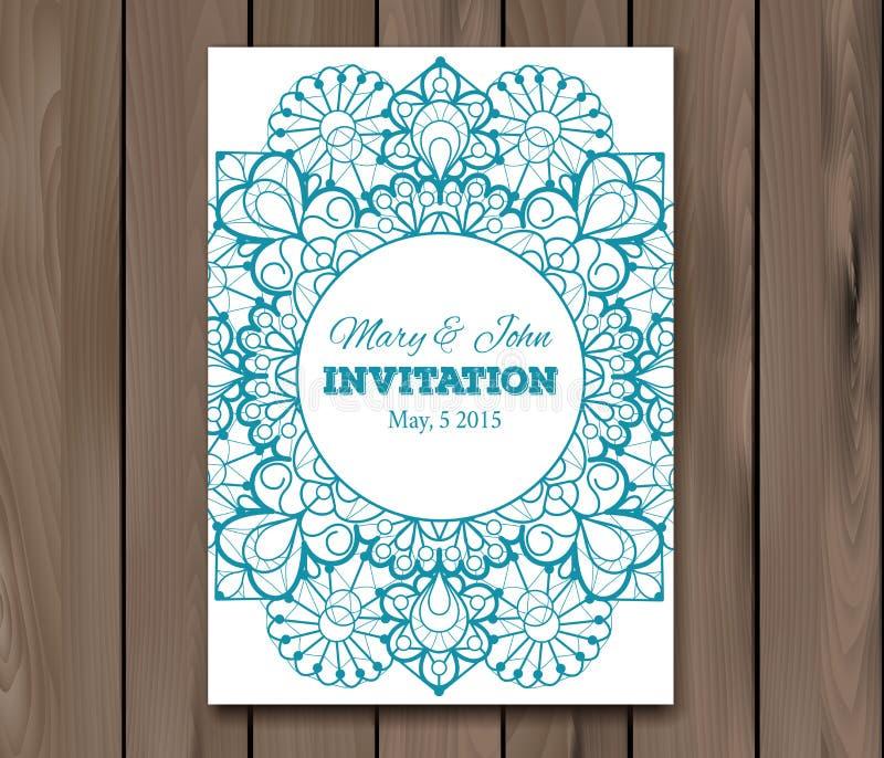 Convite do casamento, molde do cartão ilustração stock