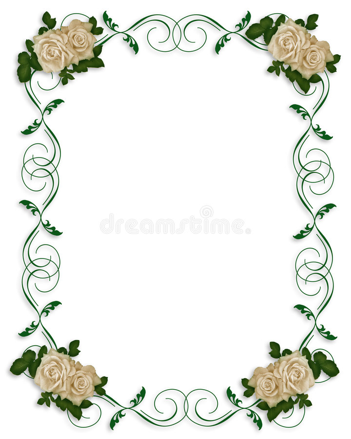 Convite do casamento ou do partido ilustração stock