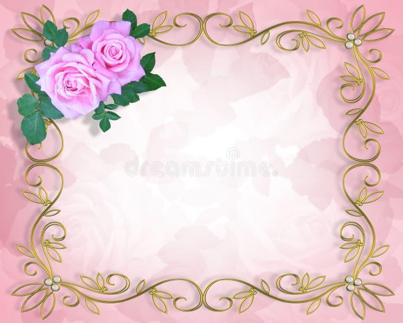 Convite do casamento ou do partido   ilustração royalty free