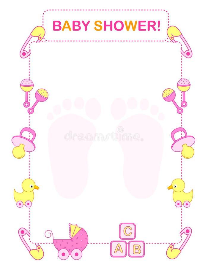 Convite do chuveiro de bebê ilustração royalty free