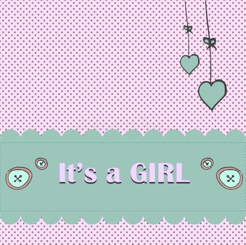 Convite do chuveiro do cartão de chegada do bebê ilustração stock