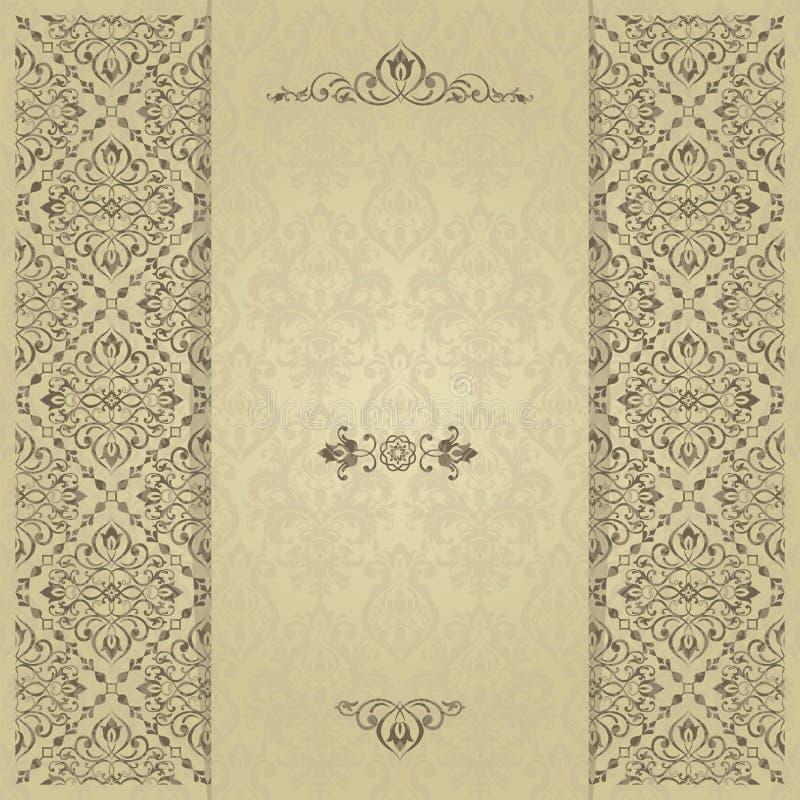 Convite do ouro com quadro O ouro carda moldes para economias a data, casamento convida, cartões, cartão ilustração royalty free