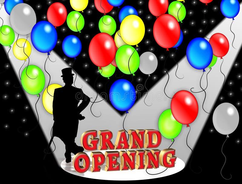 Convite do partido da abertura grande. ilustração stock