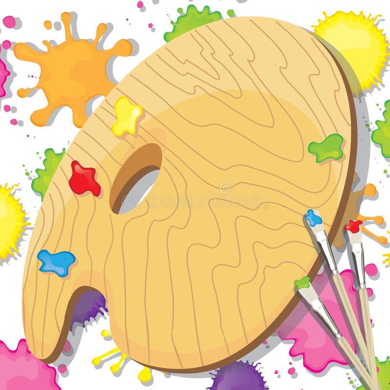 Convite do partido da pintura da arte ilustração stock