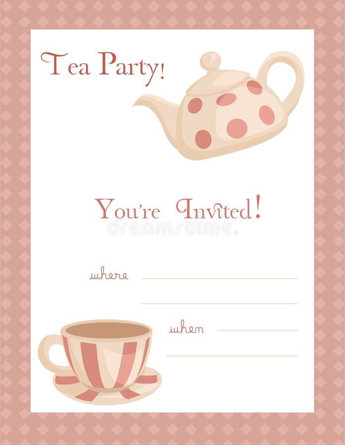 Convite do partido de chá ilustração royalty free