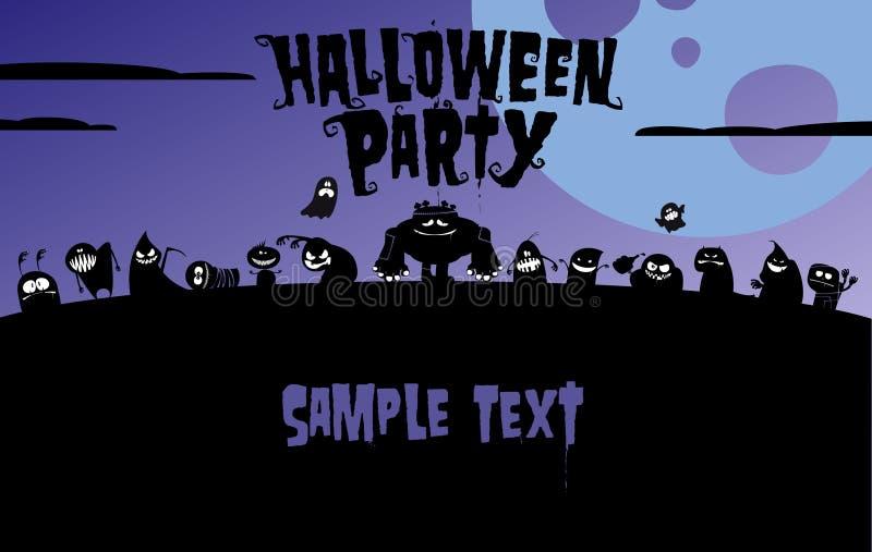 Download Convite Do Partido De Halloween. Ilustração do Vetor - Ilustração de projeto, grunge: 26514875