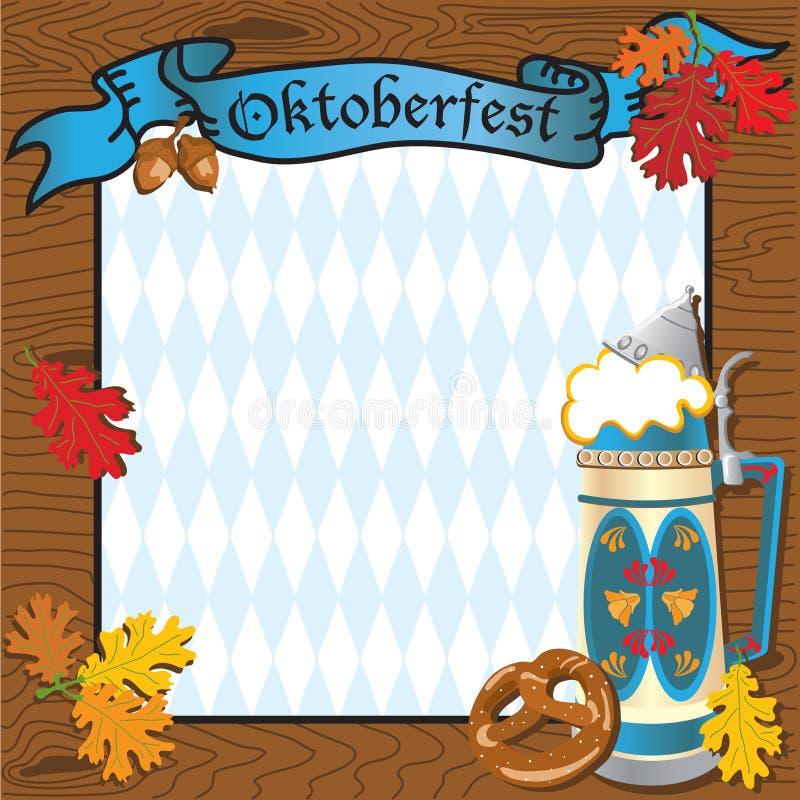Convite do partido de Oktoberfest ilustração royalty free