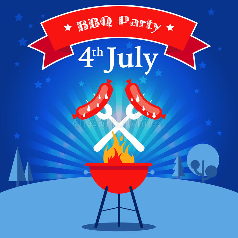 Convite do partido do BBQ ilustração do vetor