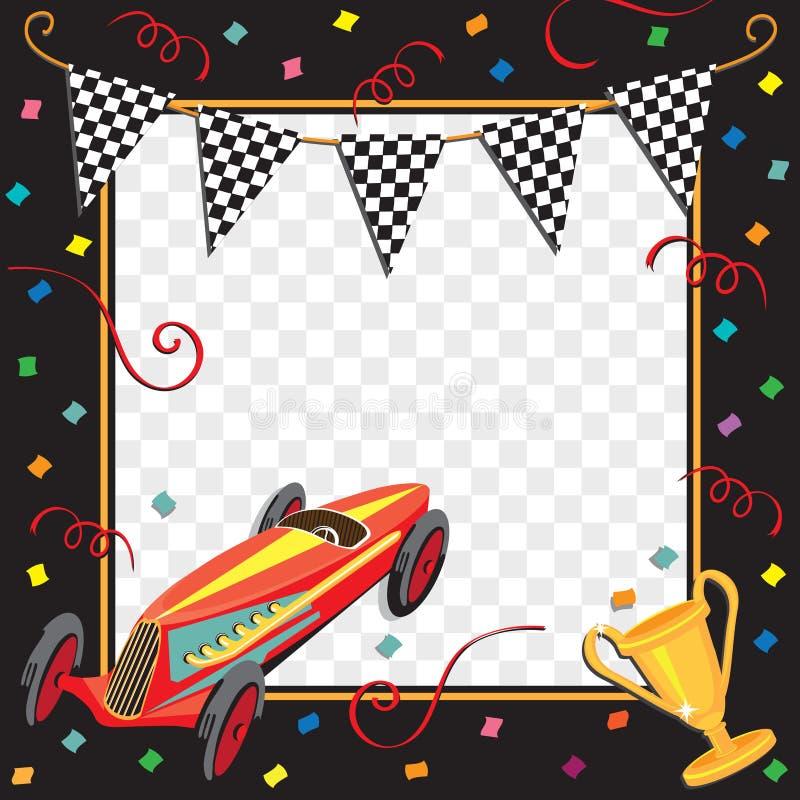 Convite do partido do carro de corridas ilustração do vetor