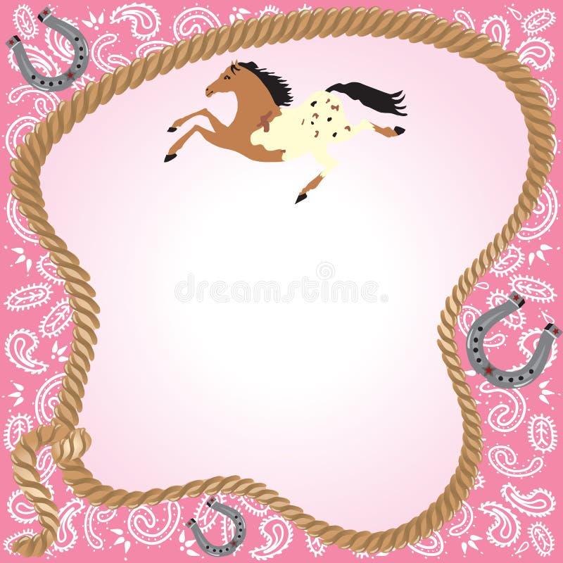 Convite do partido do Cowgirl ilustração do vetor