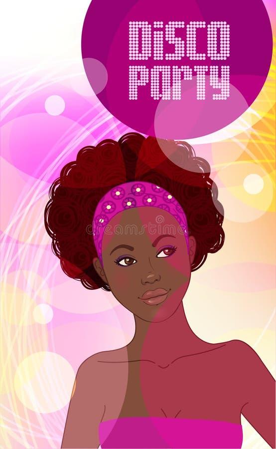Convite do partido do disco ilustração royalty free