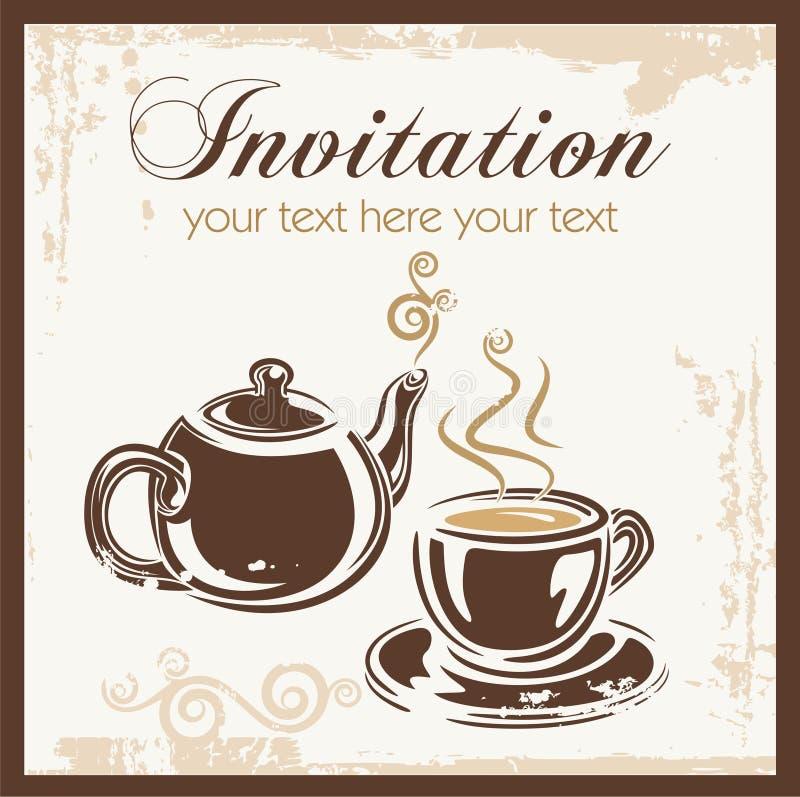 Preferência Convite Do Partido Do Tempo Do Chá Ilustração do Vetor  GX76