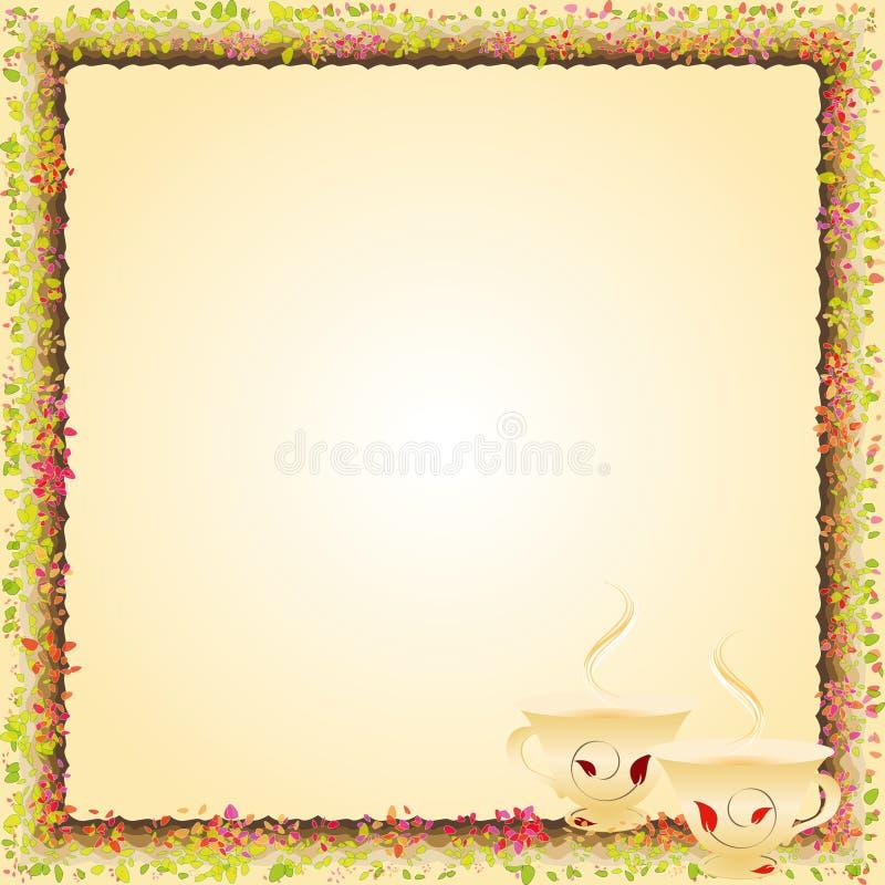 Convite do partido do tempo do chá do verão ilustração royalty free