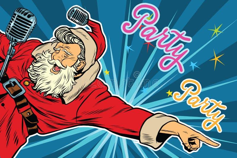 Convite do pop art a uma festa de Natal ilustração royalty free