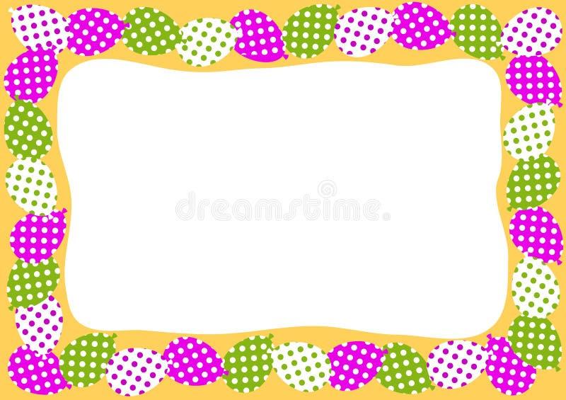 Convite do quadro da beira dos balões ilustração do vetor
