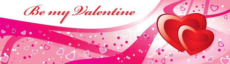 Convite do Valentim ilustração stock