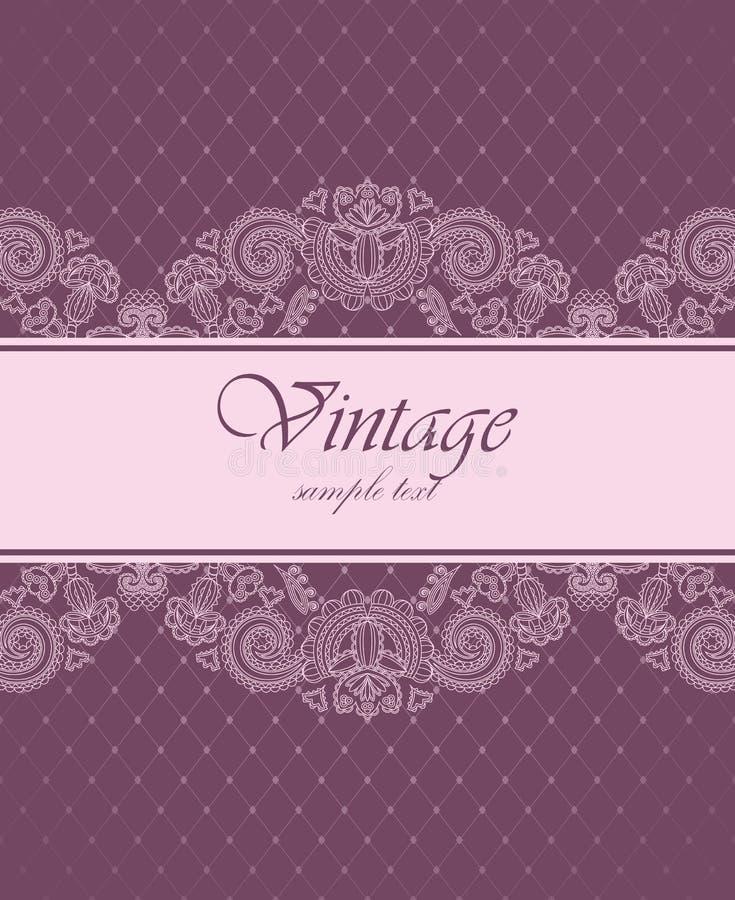 Convite elegante do vintage ilustração royalty free