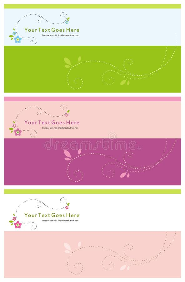 Convite floral foto de stock