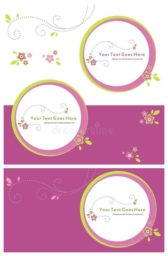 Convite floral roxo fotografia de stock royalty free