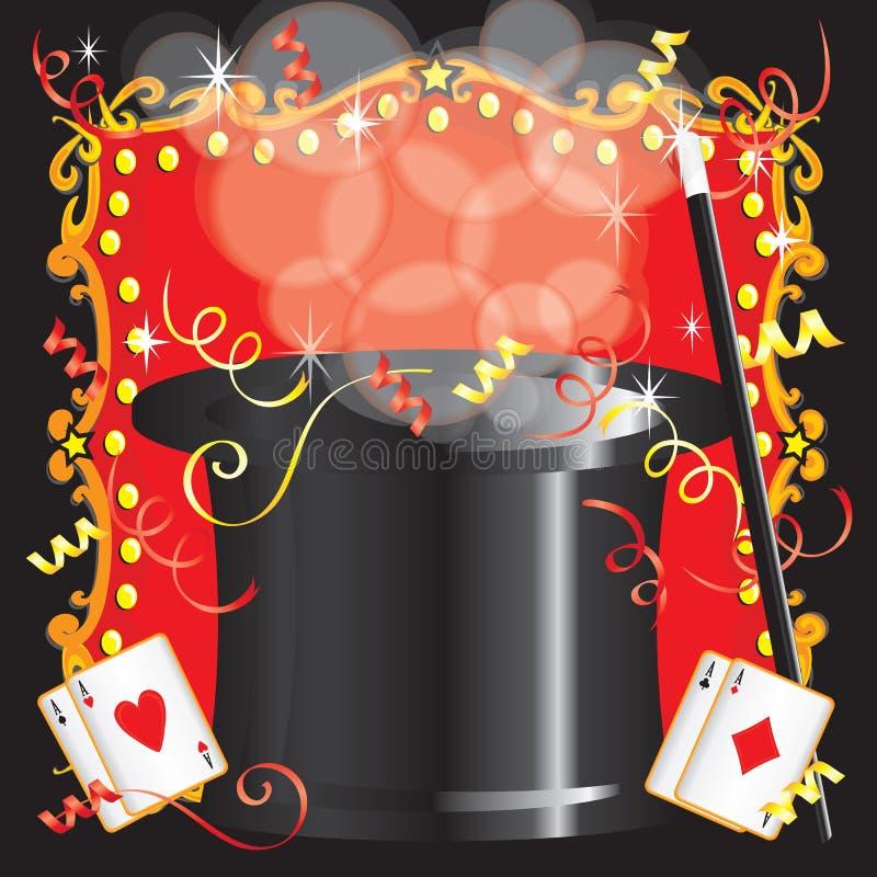 Convite mágico da festa de anos do ato do mágico ilustração royalty free