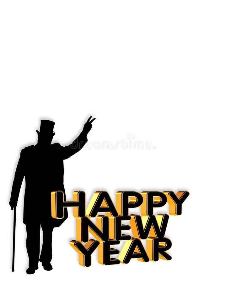 Convite ou fundo do cartão do ano novo ilustração do vetor