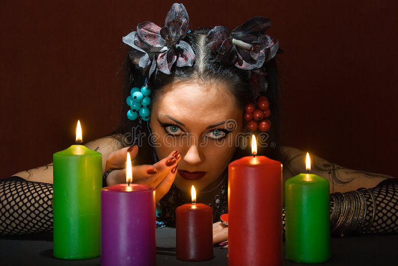 Convite para a mágica fotografia de stock