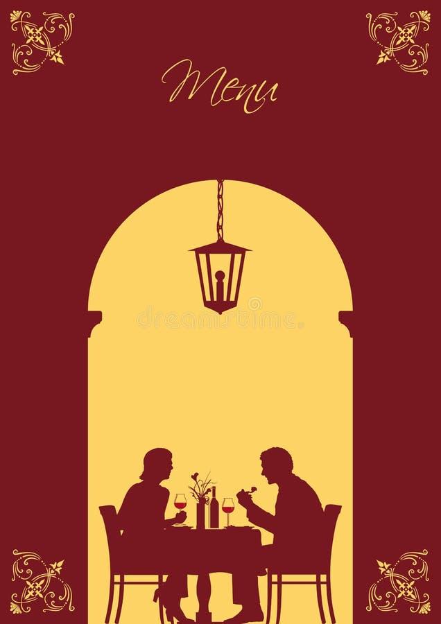 Convite para o jantar ilustração royalty free