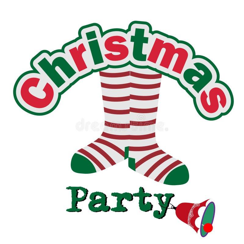 Convite parvo da festa de Natal ilustração royalty free