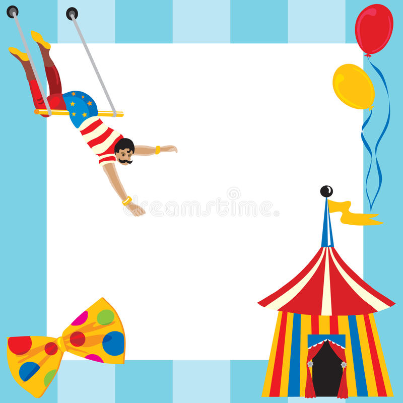Convite temático do partido do circo ilustração stock