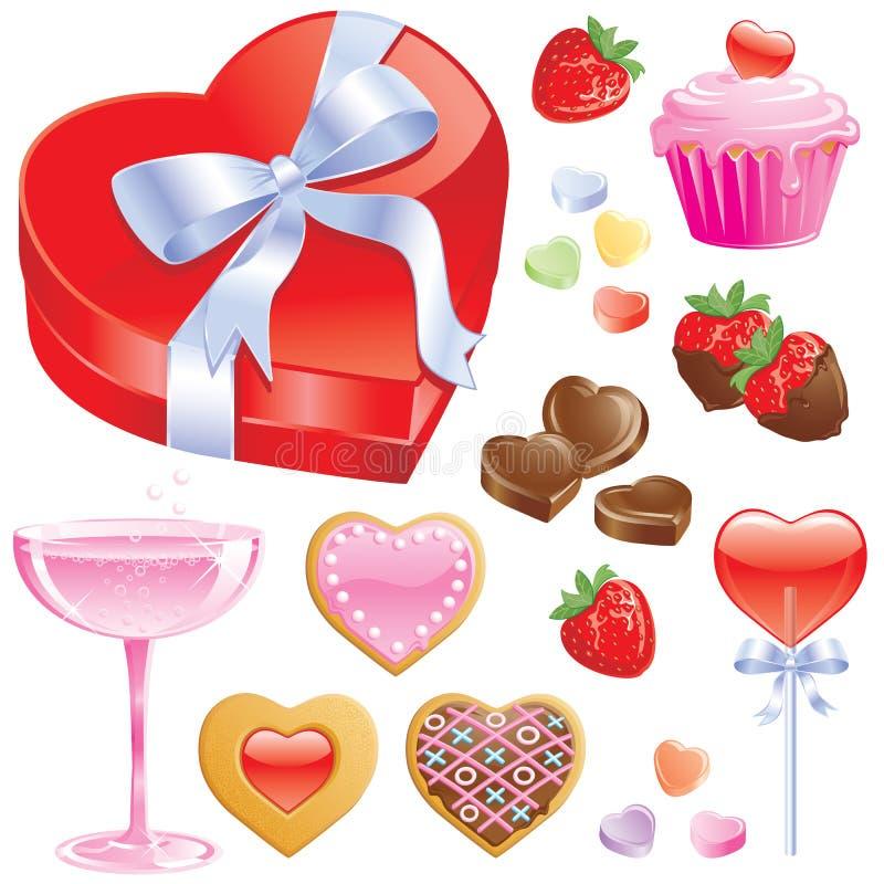 Convites de la tarjeta del día de San Valentín stock de ilustración