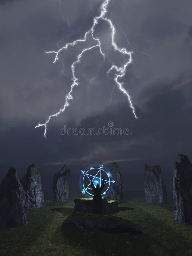 Convocazione del Druid illustrazione vettoriale